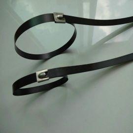 喷塑不钢扎带 图层防静电不锈钢扎带