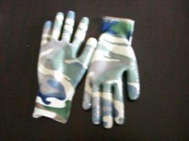 13针印花丁腈手套