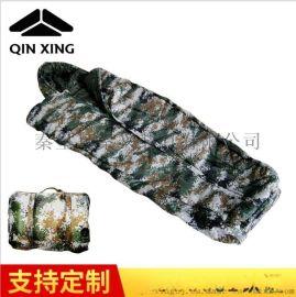 野營保暖睡袋 戶外木乃伊式睡袋 戶外羽絨睡袋 迷彩成人睡袋