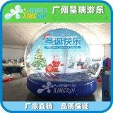 充气雪花球商场展览充气帐篷圣诞节日装饰用品充气透明展示球气模