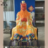 四海龙王佛像彩绘图片 豫莲花厂家 龙父龙母神像