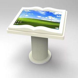 图书馆55英寸落地式红外触摸虚拟翻书阅读查询一体机展示机