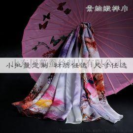 来图来样定制加工真丝素绉缎丝巾