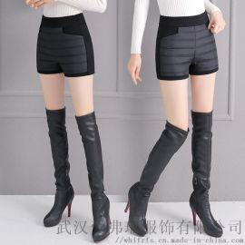 哪里有走份折扣女装爱美斯18年冬装新款鸭绒裤女外穿