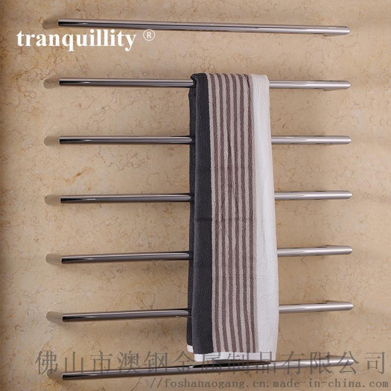 低壓單杆圓管電熱毛巾架,浴巾架, 不鏽鋼電熱毛巾架