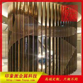 304不锈钢管制隔断 佛山酒店装饰彩色不锈钢屏风