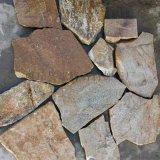 天然青灰色石材毛石擋土牆石漿砌亂形片石碎拼青石板