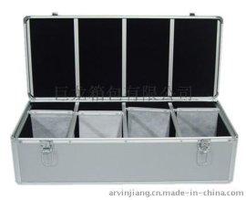 巨龙箱包 CDL08-600银色钻石纹600片CD箱铝片定做
