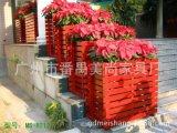酒店高档进口实木花箱 园林花箱 植物花槽