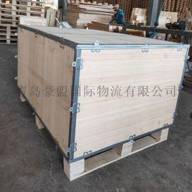 黄岛钢带箱加工厂可拆卸出口免熏蒸特价
