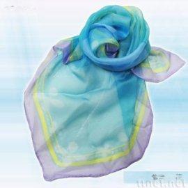 紫绿小花丝巾(S-005)