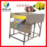 定製洗果機 毛輥噴淋洗芒果機 迴圈水噴淋清洗機