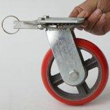 廠家直銷 6寸聚氨酯萬向腳輪 耐磨靜音定向輪腳輪 手推車輪子批發