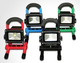 LED应急集成投光灯 手提支架式 **电池充电 10W   160元