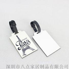 木质行李牌旅行包烫画标签行李箱挂饰