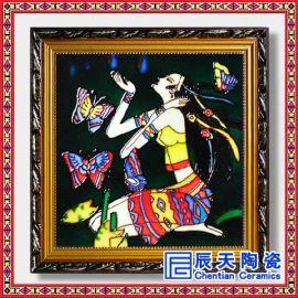 手绘青花瓷板画 艺术瓷板画 瓷板画订做