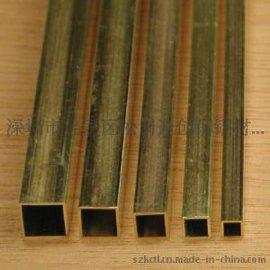 挤压黄铜管供应H65,h68黄铜管 黄铜方通管价格