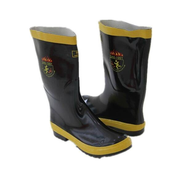 消防員滅火消防靴子   搶險救援防護膠靴   防砸防刺鞋