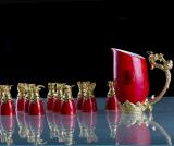 陶瓷中国红瓷十二兽头生肖酒具和瓷品牌高档商务礼品