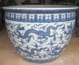 園林陶瓷花盆廠家批發定制瓷器種樹大盆大缸定做陶瓷魚缸加工