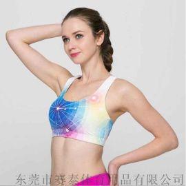 **莱卡跑步健身运动文胸 美背防震运动内衣厂家订制