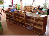 成都實木幼兒園家具 實木櫃子玩具櫃