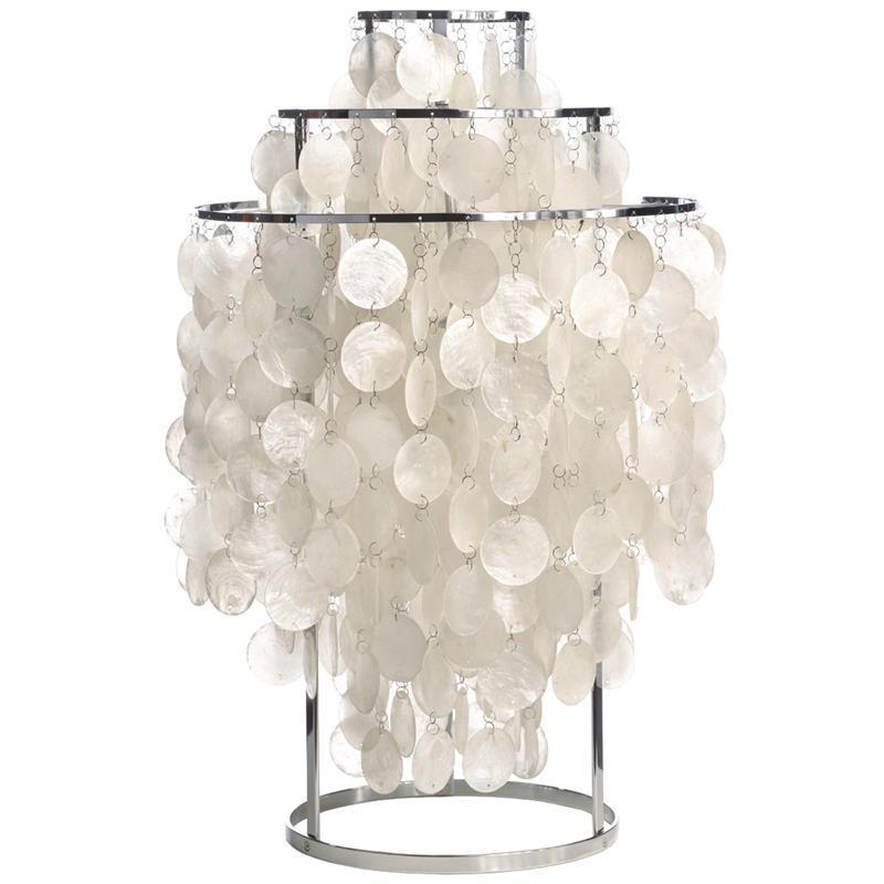 北歐 Verner Panton fun table lamp 珍珠母貝檯燈 貝殼裝飾檯燈