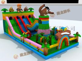 大型兒童充氣玩具生產廠家,熊出沒充氣城堡質量好的廠家