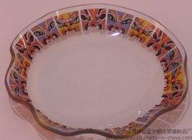 脸谱钢化玻璃盘
