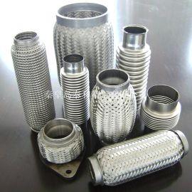 16949认证内外编织网汽车排气挠性管