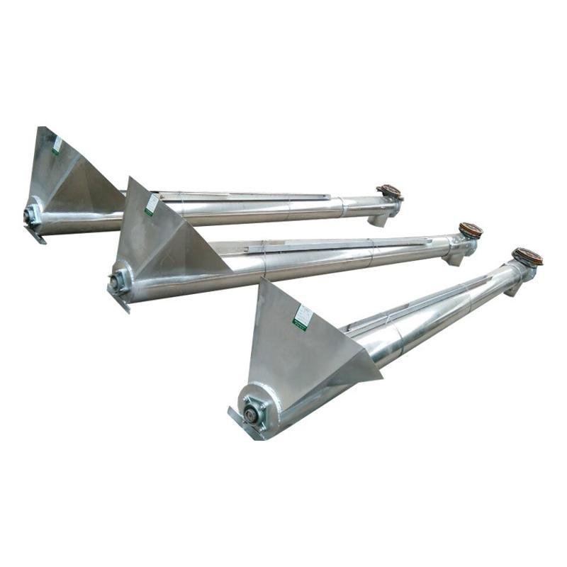 沙土小型螺旋提升机自动上料圆管提料机移动式绞龙递料机