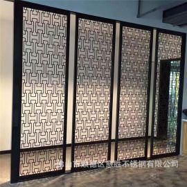 安徽酒店黑色屏风隔断 黑金不锈钢门花  黑钛金不锈钢花格