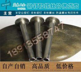 【优势产品】半空心铆钉 不锈钢半空心铆钉6*20