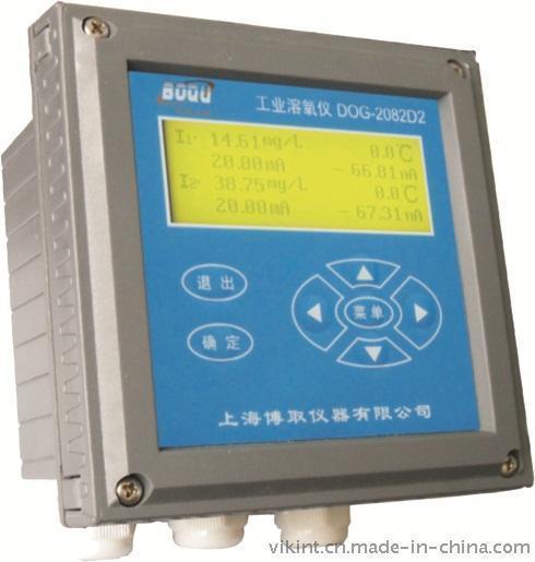 上海博取2082D型双通道工业溶氧仪中文菜单液晶显示多参数同屏带温补高智能化在线连续监测仪表