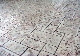 杭州艺术压模地坪/彩色透水混凝土地坪厂家直销