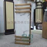 仿雲石壁燈現代簡約室內中式長方形雲石燈電鍍拉絲銅不鏽鋼牆掛燈
