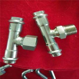 304不锈钢饮用水管 薄壁卡压式水管配件接头厂家直销