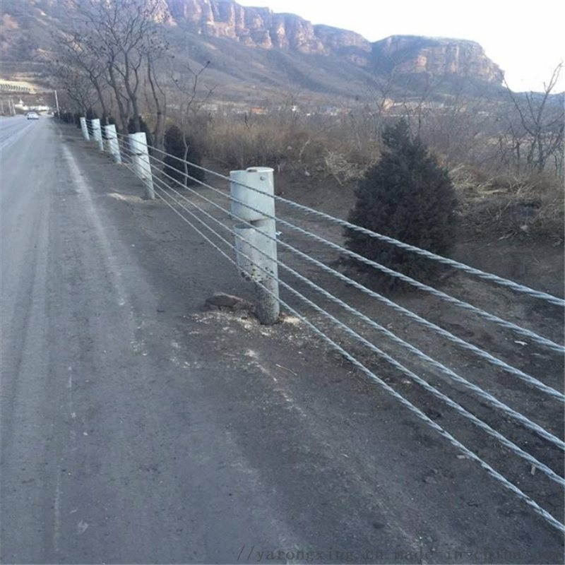 景区护栏@景区护栏厂家@景区钢丝绳护栏