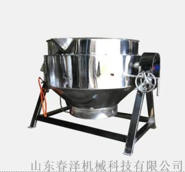 炒牛蛙专用夹层锅 不锈钢带搅拌炒锅