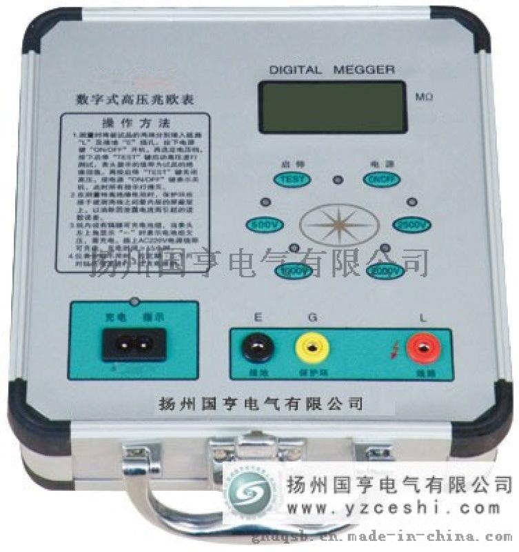 數位式高壓絕緣電阻測試儀型號_使用方法