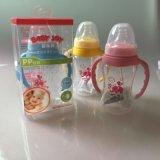 廠家直銷 嬰樂美標口150ml雙肩pp奶瓶 寶寶 新生嬰兒帶手柄奶瓶