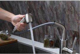 伊品卫浴304不锈钢厨房水龙头 外贸抽拉式菜盆龙头 冷热水龙头 卫浴批发厂家