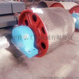 SSJ100皮带机传动滚筒 大齿轮传动滚筒