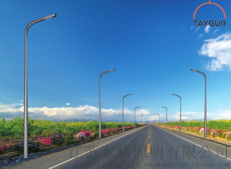 泰格LED照明燈,單臂路燈杆,熱鍍鋅路燈,道路照明
