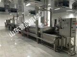 連續式蒸汽加熱魚泥餅蒸道可定製隧道蒸煮機