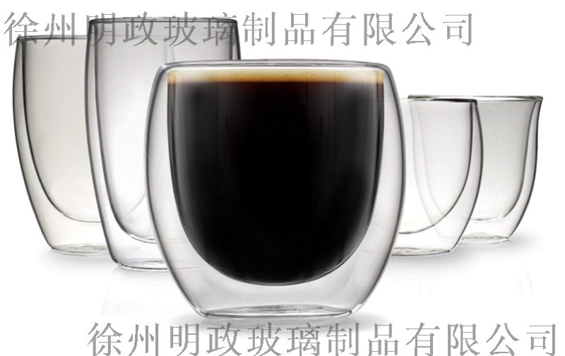 玻璃水杯玻璃茶杯生產廠家, 雙層玻璃杯咖啡杯廠家
