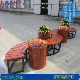 市政花箱护栏 景观道路花箱护栏 塑木 pvc 桥梁