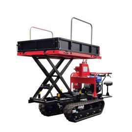 瓦力機械迷你履帶液壓升降翻鬥搬運車