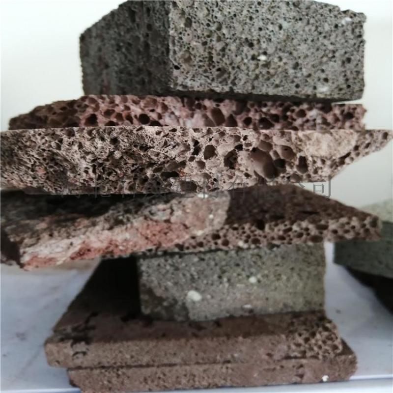 造景过滤火山岩 红色黑色火山石颗粒 园艺火山石