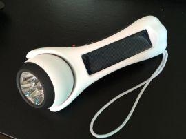 便携式多功能太阳能手电筒 TF读卡 FM收音机